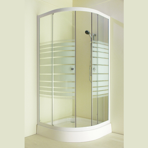 Feromix AHTV1-20T 80x80 negyedköríves zuhanykabin zuhanytálcával ...