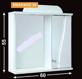 Guido Smaragd 60 tükrös fürdőszobaszekrény (fehér) - SzaniterPláza