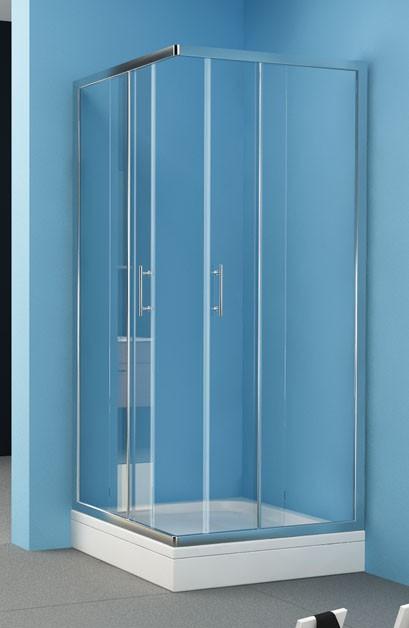 Kolpa-San Q-Line TKK 80x90 szögletes zuhanykabin (80x90 cm, silver ...