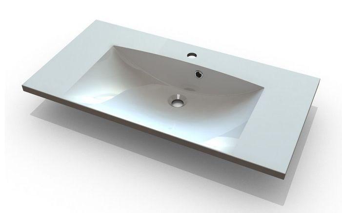 Marmy Carmen 90x46 beépíthető öntött márvány mosdó - SzaniterPláza