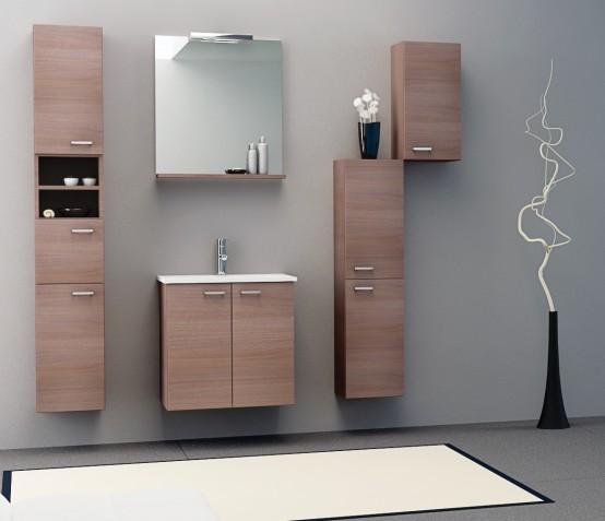 Kolpa-San Pixor 61 fürdőszoba alsó szekrény mosdóval, tükörrel ...