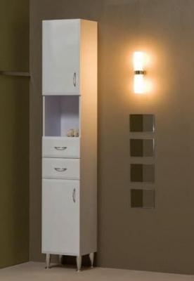 Tboss Bianka M45 fürdőszobai álló szekrény (magasfényű fehér ...