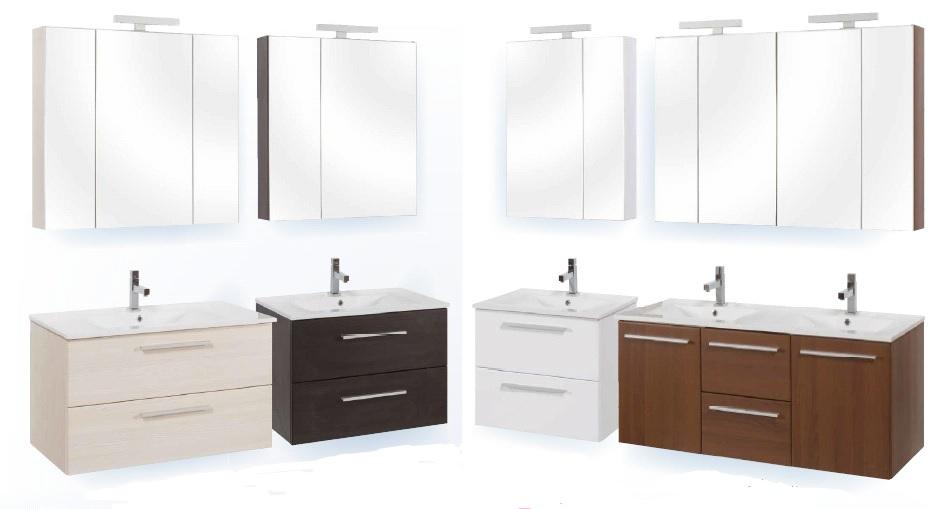 Tboss Miláno 90 fürdőszobabútor komplett szett (sonoma, #pipere ...
