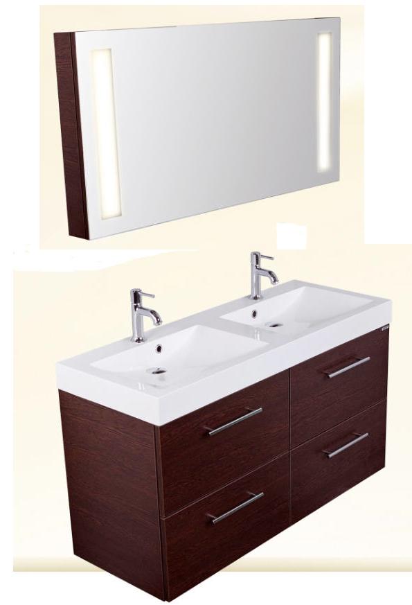 Infinity Venezia 1200 wenge fürdőszobabútor + tükör led ...