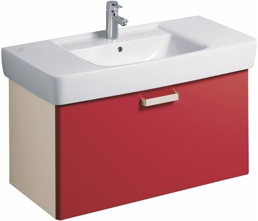 Kolpa-San Pixor 61 fürdőszoba alsó szekrény mosdóval, tükörrel (dió) - SzaniterPláza