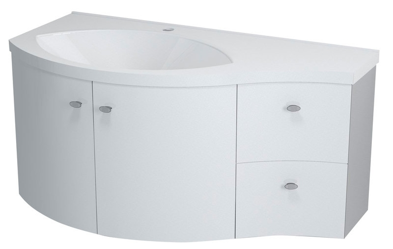 Sapho AILA 110x39 cm mosdótartó szekrény, fiókok jobbra, mosdó ...