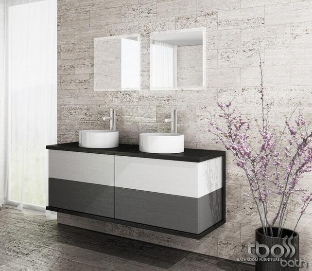 Tboss Minimal 140 4F fürdőszobai alsó szekrény 4 fiókkal, 2 ...