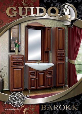Guido Barokk 1009 oldalsó magas fürdőszoba szekrény 2 ajtós 2 fiókos (32,5x202x33 cm, #Barokk ...