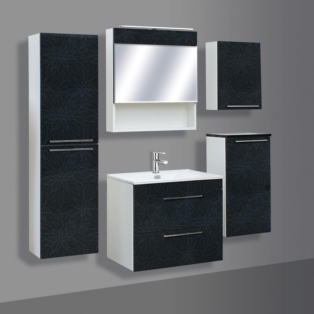 Guido Prémium Extralux Nicolo fürdőszoba szekrény alsó rész mosdóval (60x57x46 cm, #Prémium ...