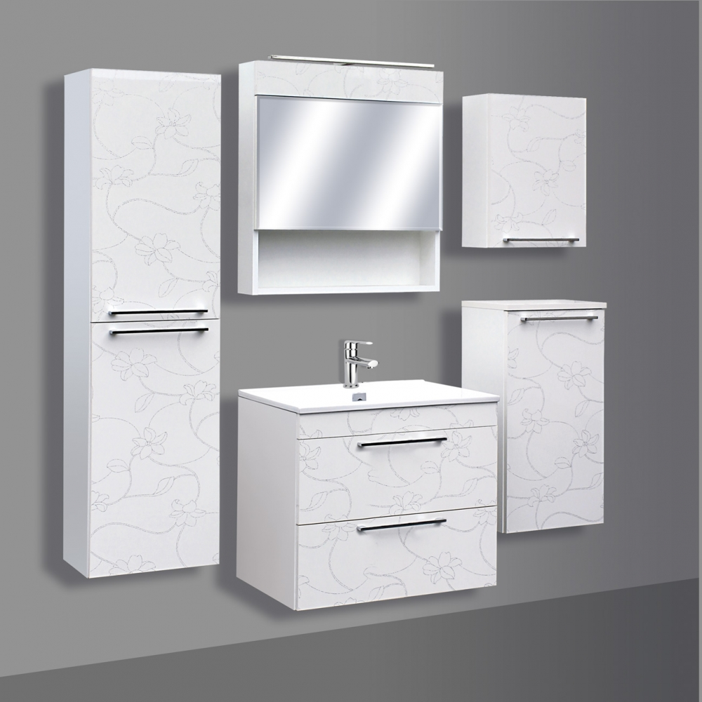Guido Prémium Extralux Vito fürdőszoba szekrény alsó rész mosdóval ...