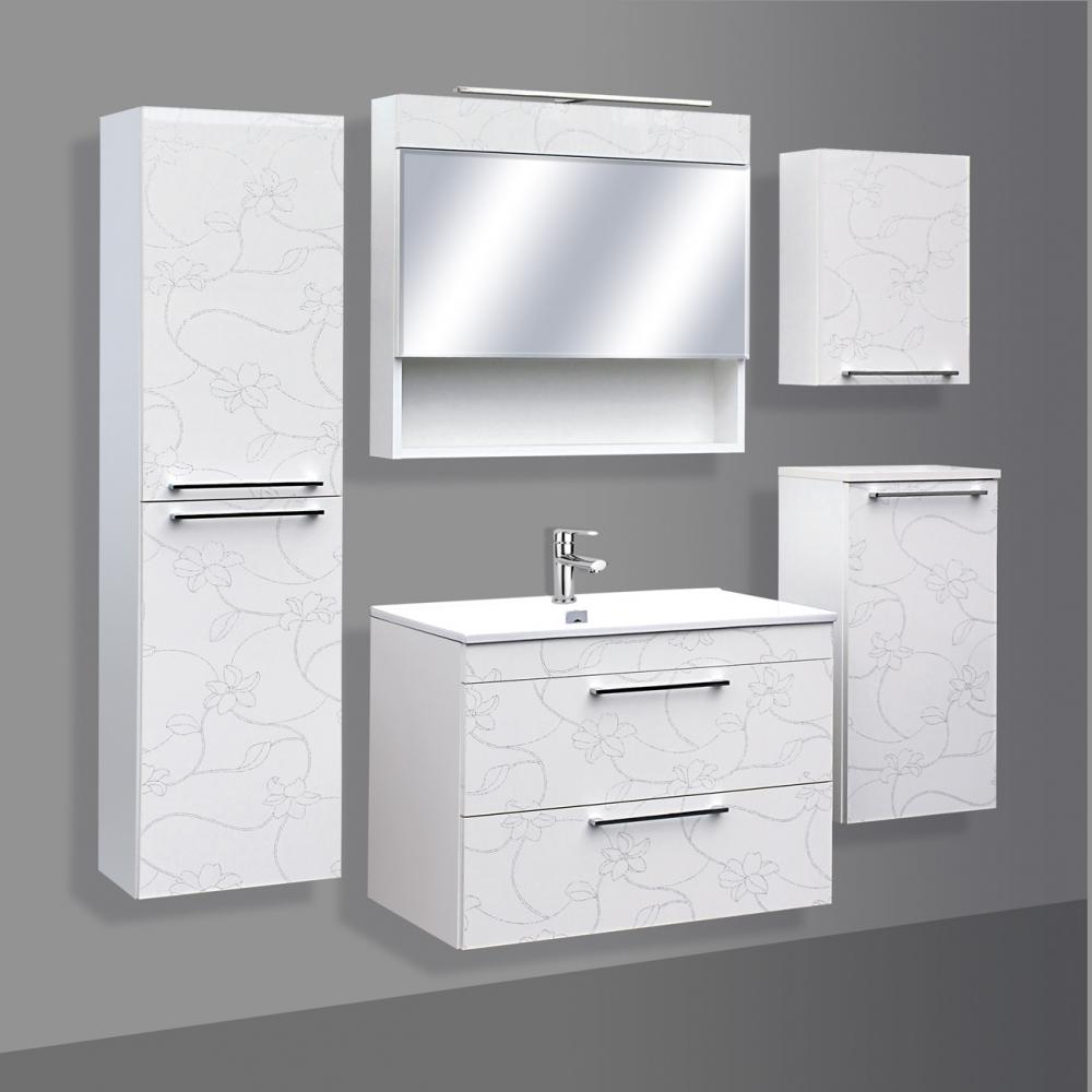 Guido Prémium Extralux Vito tükrös felső fürdőszoba szekrény (80x72x17,5 cm, #Prémium Extralux ...