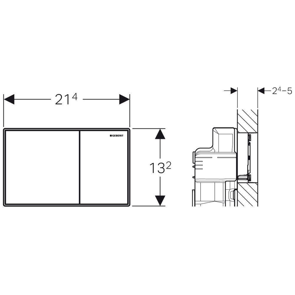 geberit sigma60 m k dtet nyom lap k tmennyis ges fal s kj ba s llyesztett kivitel umbra barna. Black Bedroom Furniture Sets. Home Design Ideas