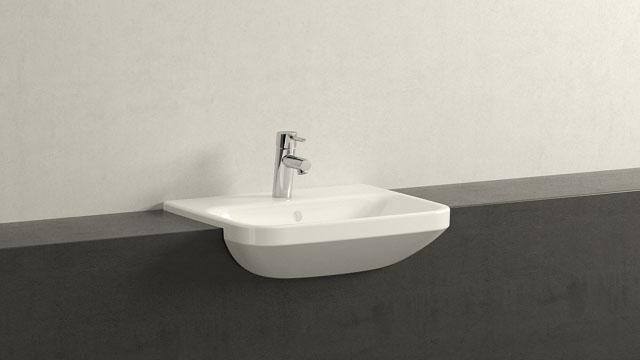 félig beépithető mosdó Durvit Durastyle 55x45,5 cm es félig beépíthető mosdó 037555 00 00  félig beépithető mosdó